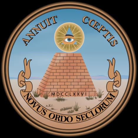 «Novus ordo seclorum» («Новый мировой порядок»).