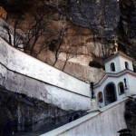 Бахчисарай. Вид из Успенского мужского монастыря на гору Чуфут-Кале