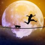 Лунное затмение 4 апреля 2015 года - ось Овна и Весов