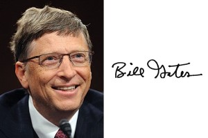 Подпись миллиардера - Билл Гейтса, американского предпринимателя и общественного деятеля, филантропа, один из создателей и бывший крупнейший акционеров компании Microsoft. Как с помощью подписи привлечь материальный достаток?