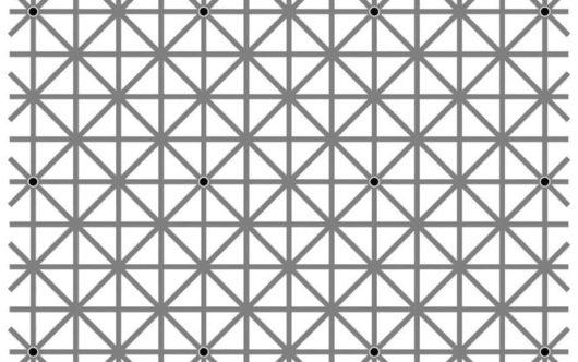 Оптическая иллюзия с 12 точками, которые невозможно увидеть одновременно