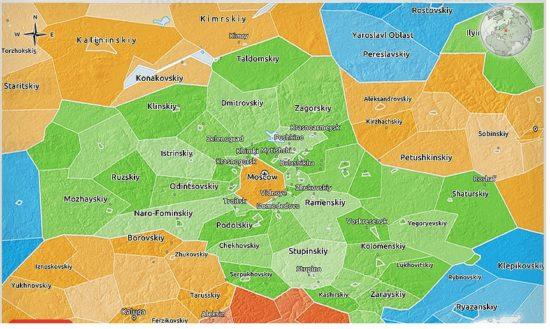 3D карта московской области