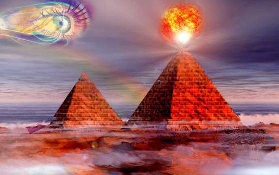 Пирамиды по всему миру начали излучать пучки энергии в область фотонного облака