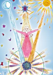 На рисунке: в медитации Марина Васильева увидела высшую сущность Светланы Сушкевич