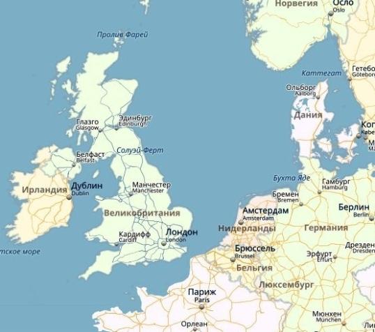 местоположение Ирландии стало значительно южнее