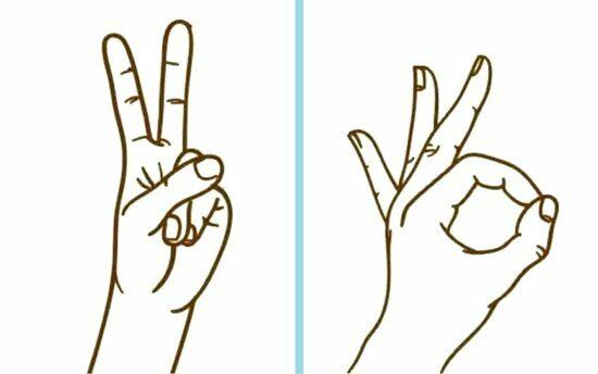 символ «мир» /знак «ОК»