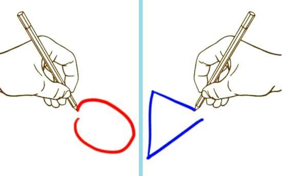 рисовать одновременно обеими руками